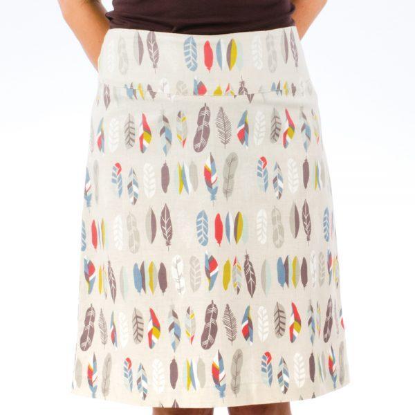 featehr-skirt-cream